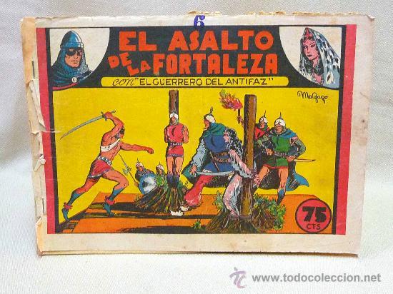COMIC, EL GUERRERO DEL ANTIFAZ, EL ASALTO DE LA FORTALEZA, Nº 6 , EDITORIAL VALENCIANA (Tebeos y Comics - Valenciana - Guerrero del Antifaz)
