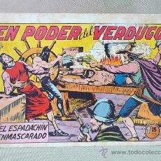 Tebeos: COMIC, EL ESPADACHIN ENMASCARADO, Nº 22, EL PODER DEL VERDUGO, EDITORIAL VALENCIANA, ORIGINAL. Lote 25233363