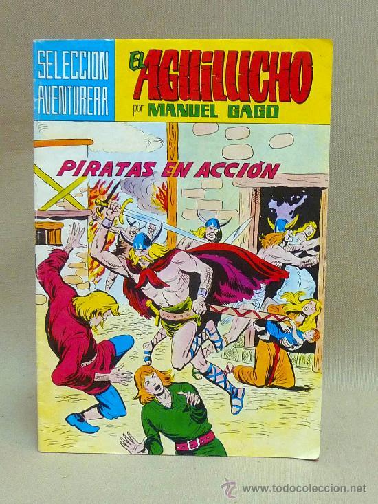 COMIC, EL AGUILUCHO, PIRATAS EN ACCION, Nº 2, VALENCIANA (Tebeos y Comics - Valenciana - Selección Aventurera)