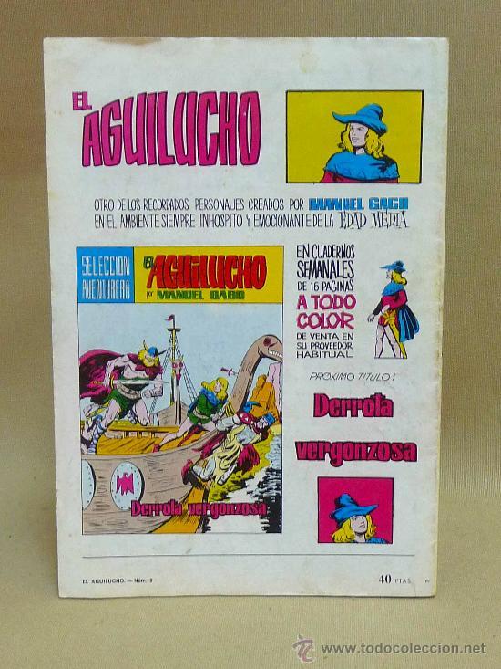 Tebeos: COMIC, EL AGUILUCHO, PIRATAS EN ACCION, Nº 2, VALENCIANA - Foto 2 - 27356726