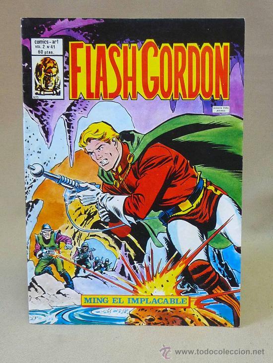 COMIC, FLASH GORDON, MING EL IMPLACABLE, VOL II, Nº 41, VALENCIANA (Tebeos y Comics - Valenciana - Otros)