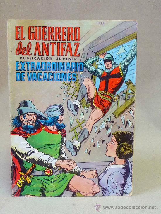 COMIC, EL GUERRERO DEL ANTIFAZ, EXTRA DE VACACIONES, VALENCIANA, 1975 (Tebeos y Comics - Valenciana - Guerrero del Antifaz)