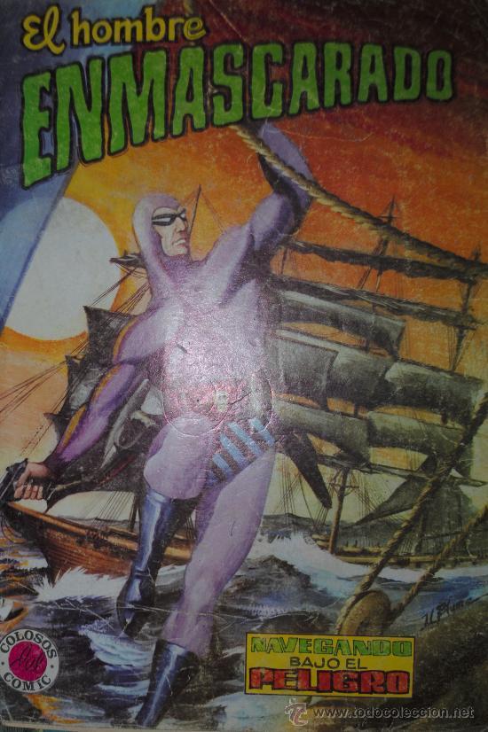 COLOSOS DEL COMIC Nº 12. EDITORA VALENCIANA. EL HOMBRE ENMASCARADO. NAVEGANDO BAJO EL PELIGRO (Tebeos y Comics - Valenciana - Colosos del Comic)