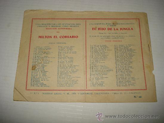 Tebeos: EL HIJO DE LA JUNGLA Nº 62 de VALENCIANA Original . Año 1950s. - Foto 2 - 28232201