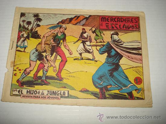 EL HIJO DE LA JUNGLA Nº 62 DE VALENCIANA ORIGINAL . AÑO 1950S. (Tebeos y Comics - Valenciana - Hijo de la Jungla)