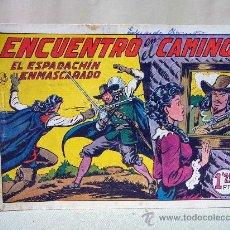 Tebeos: COMIC, EL ESPADACHIN ENMASCARADO, ENCUENTRO EN EL CAMINO,, VALENCIANA, Nº 9, ORIGINAL. Lote 28503482