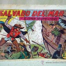 Tebeos: COMIC, EL ESPADACHIN ENMASCARADO, SALVADO DEL MAR, VALENCIANA, Nº 107, ORIGINAL. Lote 28503962