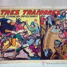 Tebeos: COMIC, EL ESPADACHIN ENMASCARADO, TRES TRAIDORES, VALENCIANA, Nº 168, ORIGINAL. Lote 28504171