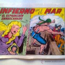 Tebeos: EL ESPADACHIN ENMASCARADO, INFIERNO EN EL MAR, Nº 25, 2ª EDICION, EDITORA VALENCIA 1981. Lote 28595957