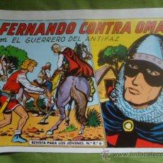 Tebeos: COMIC ORIGINAL, EL GUERRERO DEL ANTIFAZ, FERNANDO CONTRA OMAR, Nº 332, EDITORIAL VALENCIANA . Lote 29146876