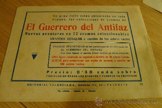 Tebeos: Lote de tebeos apaisados originales del Guerrero del antifaz - Foto 4 - 29159004