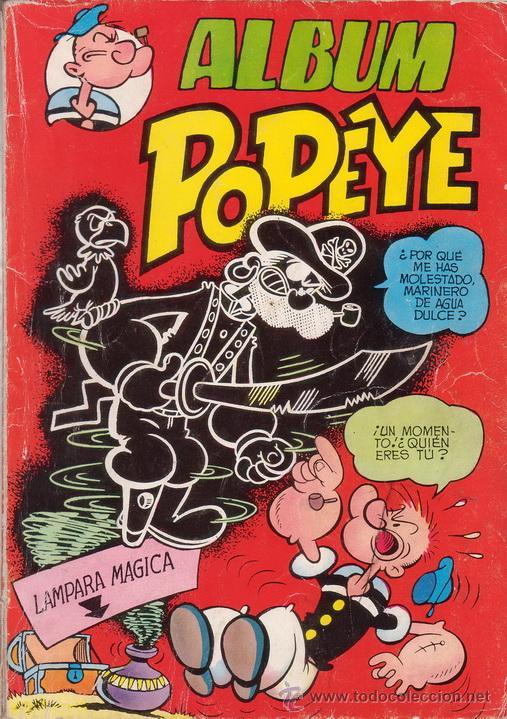 ALBUM POPEYE. COLOSOS DEL COMIC. TOMO CON MAS DE 120 PÁGINAS. EDITORIAL VALENCIANA. (Tebeos y Comics - Valenciana - Colosos del Comic)