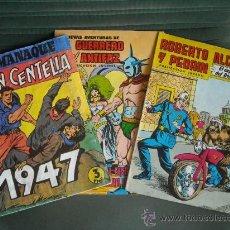 Tebeos: LOTE DE TRES TEBEOS, JUAN CENTELLAS ALMANAQUE 1947, EL GUERRERO Y ROBERTO ALCAZAR. . Lote 30723473