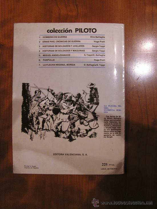 Tebeos: EDIT. VALENCIANA FANFULLA HUGO PRATT 1983 - Foto 3 - 30851767