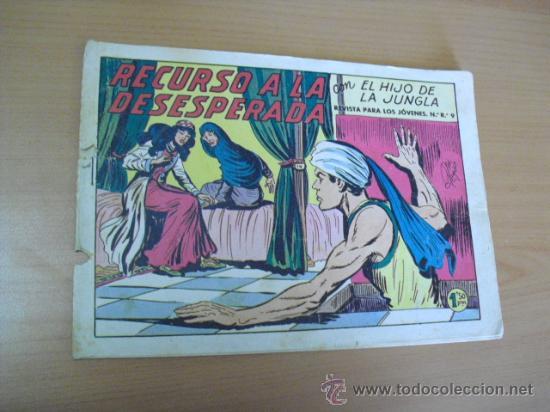 EL HIJO DE LA JUNGLA Nº 37, DE 1958 (Tebeos y Comics - Valenciana - Hijo de la Jungla)
