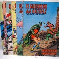 Tebeos: EL GUERRERO DEL ANTIFAZ - VALENCIANA - LOTE 6 NUMS.. Lote 30907710