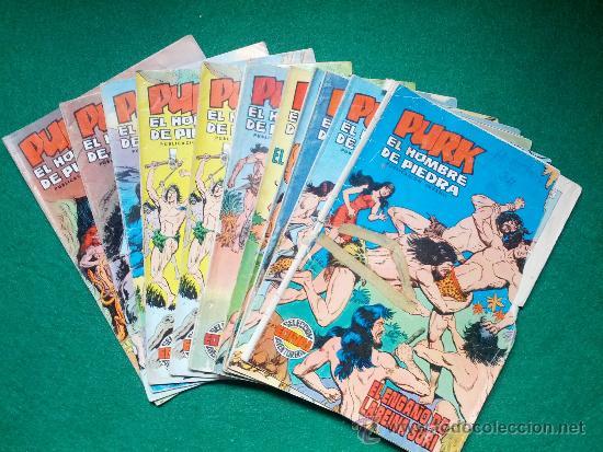 LOTE DE COMIC PURK EL HOMBRE DE PIEDRA (Tebeos y Comics - Valenciana - Purk, el Hombre de Piedra)