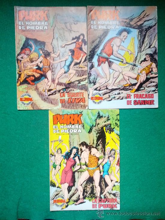 Tebeos: LOTE DE COMIC PURK EL HOMBRE DE PIEDRA - Foto 4 - 31614803