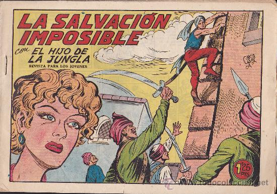 COMIC ORIGINAL EL HIJO DE LA JUNGLA Nº 9 EDITORIAL VALENCIANA (Tebeos y Comics - Valenciana - Hijo de la Jungla)
