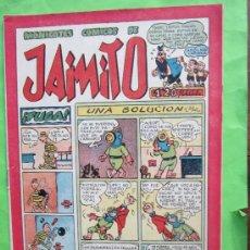 Tebeos: JAIMITO , MONIGOTES COMICOS, NUMERO 107 , VALENCIANA 1945 , MUY BUENA CONSERVACION. Lote 32207194