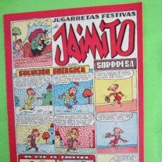 Tebeos: JAIMITO , IUGARRETAS FESTIVAS , NUMERO 126 , VALENCIANA 1945 , MUY BUENA CONSERVACION. Lote 32207347