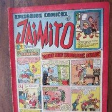 Tebeos: JAIMITO , EPISODIOS COMICOS , NUMERO 102 , VALENCIANA 1945 , MUY BUENA CONSERVACION. Lote 32313062