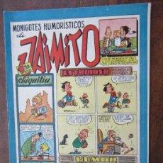 Tebeos: JAIMITO , MONIGOTES HUMORISTICOS , NUMERO 116 , VALENCIANA 1945 , MUY BUENA CONSERVACION. Lote 32313172