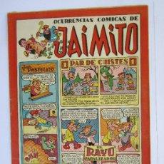 Tebeos: JAIMITO , OCURRENCIAS COMICAS , NUMERO 75 , VALENCIANA 1945 , MUY BUENA CONSERVACION. Lote 32407762