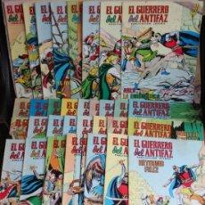 Tebeos: 32 NUMEROS DE EL GUERRERO DEL ANTIFAZ, ED VALENCIANA.. Lote 32652009
