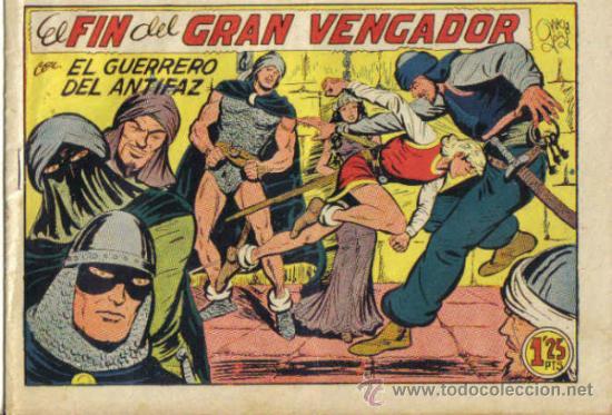 EL GUERRERO DEL ANTIFAZ Nº 220. EL FIN DEL GRAN VENGADOR. VALENCIANA. (Tebeos y Comics - Valenciana - Guerrero del Antifaz)