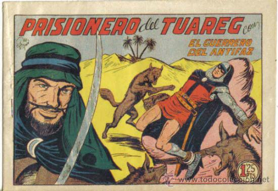 EL GUERRERO DEL ANTIFAZ Nº 223. PRISIONERO DEL TUAREG. VALENCIANA (Tebeos y Comics - Valenciana - Guerrero del Antifaz)
