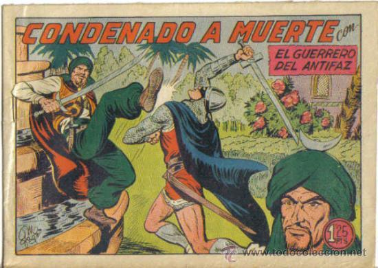 EL GUERRERO DEL ANTIFAZ Nº 222. CONDENADO A MUERTE. VALENCIANA (Tebeos y Comics - Valenciana - Guerrero del Antifaz)