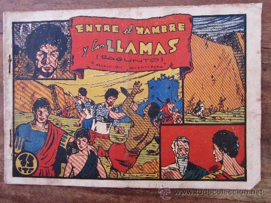 SELECCION AVENTURERA , MONOGRAFICOS , NUMERO 15 , ENTRE LAS LLAMAS , SAGUNTO , VALENCIANA 1941 (Tebeos y Comics - Valenciana - Otros)