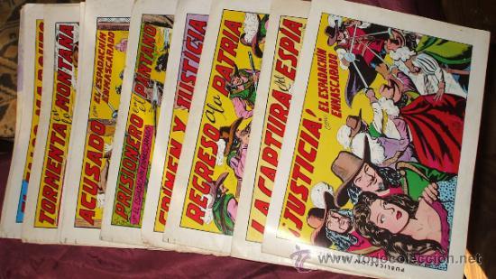 LOTE DE 10 TEBEOS ESPADACHIN ENMASCARADO 2ª EDICION 1981 DE EDIT. VALENCIANA (Tebeos y Comics - Valenciana - Espadachín Enmascarado)