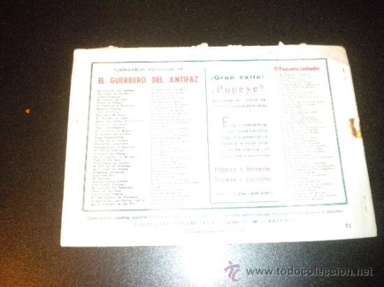 Tebeos: El Guerrero del Antifaz Enemigo peligroso Numero 71 de 1943 - Foto 2 - 33249370
