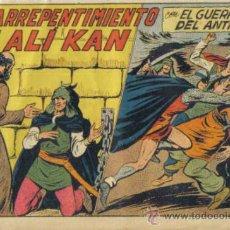 Tebeos: EL GUERRERO DEL ANTIFAZ Nº 224. EL ARREPENTIMIENTO DE ALI KAN. VALENCIANA.. Lote 33416854