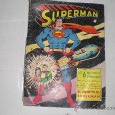 Tebeos: SUPERMAN: LAS 6 MEJORES AVENTURAS, 64 PAGINAS, EDITORIAL VALENCIANA 1975. Lote 33433471