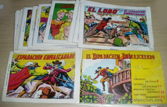 EL ESPADACHÍN ENMASCARADO DEL NUM. 1 AL 20, SEGUNDA EDICIÓN, DE 1981, EL NUMERO 6 ES UN TOMO MAS GOR (Tebeos y Comics - Valenciana - Espadachín Enmascarado)