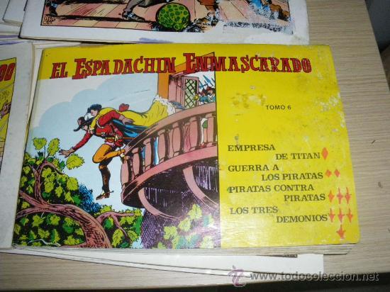 Tebeos: EL ESPADACHÍN ENMASCARADO DEL NUM. 1 AL 20, SEGUNDA EDICIÓN, DE 1981, EL NUMERO 6 ES UN TOMO MAS GOR - Foto 2 - 33558361