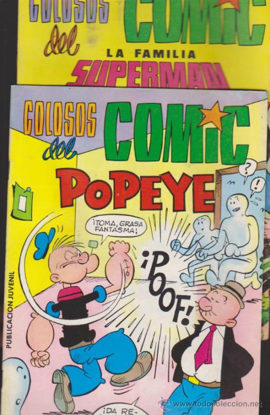 COLOSOS DEL COMIC. LA FAMILIA SUPERMAN Nº 7 Y POPEYE Nº 10. (Tebeos y Comics - Valenciana - Colosos del Comic)