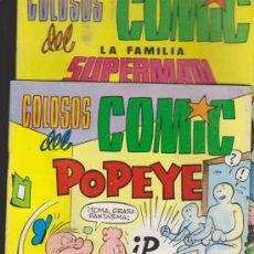 Tebeos: COLOSOS DEL COMIC. LA FAMILIA SUPERMAN Nº 7 Y POPEYE Nº 10.. Lote 34275279