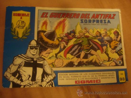 EL GUERRERO DEL ANTIGAZ N 93 (Tebeos y Comics - Valenciana - Guerrero del Antifaz)