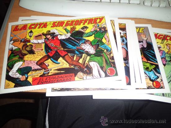 LOTE 11 COMICS ESPADACHIN ENMASCARADO ED.VALENCIANA VER FOTOS (Tebeos y Comics - Valenciana - Espadachín Enmascarado)