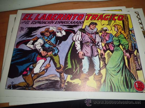 Tebeos: lote 11 comics espadachin enmascarado ed.valenciana ver fotos - Foto 4 - 34546252