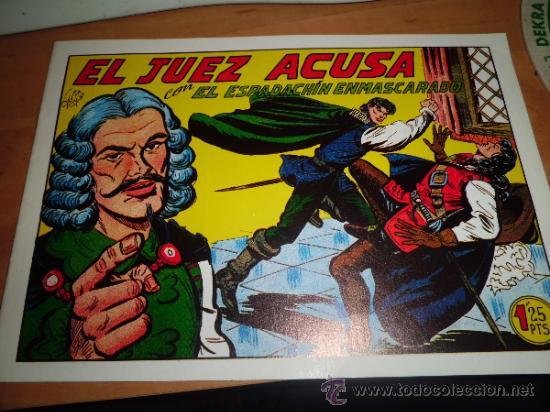 Tebeos: lote 11 comics espadachin enmascarado ed.valenciana ver fotos - Foto 13 - 34546252