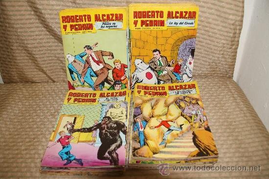 2329- ROBERTO ALCAZAR Y PEDRIN. 2ª EPOCA. LOTE DE 94 COMICS. (Tebeos y Comics - Valenciana - Roberto Alcázar y Pedrín)