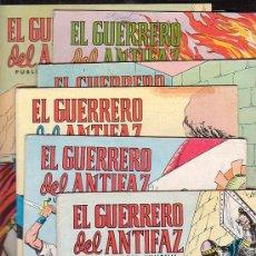 Tebeos: EL GUERRERO DEL ANTIFAZ , LOTE DE 90 EJEMPLARES. Lote 13379930