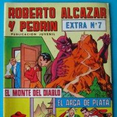 Tebeos: ROBERTO ALCAZAR Y PEDRIN PUBLICACION JUVENIL EXTRA, NUMERO 7 EL MONTE DEL DIABLO, EL ARCA DE PLATA. Lote 36030952