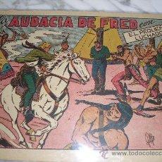 Tebeos: EL PEQUEÑO LUCHADOR Nº 60. LA AUDACIA DE FRED. VALENCIANA 1945, GRANDES. Lote 36087396