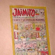 Tebeos: JAIMITO Nº 374. AÑO XI. REVISTA PARA TODOS. PALOP, KARPA, MOZART, NIN, SANCHIS. VALENCIANA 1956. +++. Lote 36343467